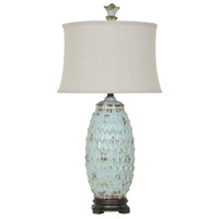 Crestview Collection CVAP1905 Colony 34 inch 150 watt Antique Blue and Black Table Lamp Portable Light