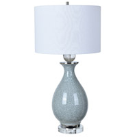 Crestview Collection CVAP2012 Jarvis 32 inch 150 watt Blue Crackle and Crystal Table Lamp Portable Light