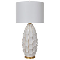 Crestview Collection CVAP2051 Cambridge 35 inch 150 watt White Washed Table Lamp Portable Light