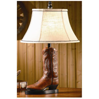 Crestview Collection CVAQP382 Stetson 27 inch 60 watt Resin Brown Leather Table Lamp Portable Light