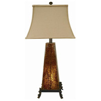 Crestview Collection CVAQP636 Roxy 31 inch 150 watt Amber and Iron Table Lamp Portable Light with Nightlight