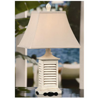 Crestview Collection CVAQP934 Seaside 23 inch 60 watt Gray Washed White Accent Lamp Portable Light