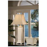 Crestview Collection CVARP287 Seaside 36 inch 100 watt Gray Washed White Table Lamp Portable Light