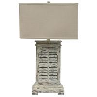 Crestview Collection CVAUP542 Antique Shutter 31 inch 150 watt Antique Grey Wash Table Lamp Portable Light