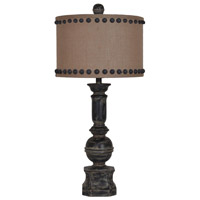 Crestview Collection CVAUP995 Iron Paluster 32 inch 150 watt Antique Iron Table Lamp Portable Light