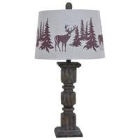 Crestview Collection CVAVP093 Hunt 29 inch 150 watt Resin Walnut Table Lamp Portable Light