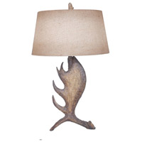 Crestview Collection CVAVP110 Moose Shed 30 inch 150 watt Resin Moose Brown Table Lamp Portable Light