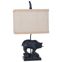 Crestview Collection CVAVP133 Fishing Bear 25 inch 100 watt Bronze Table Lamp Portable Light