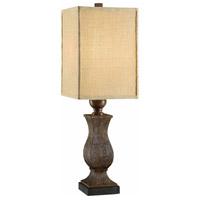 Crestview Collection CVAVP163 Maddox 32 inch 150 watt Rustic Wood Table Lamp Portable Light