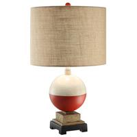 Crestview Collection CVAVP338 Bobber 24 inch 150 watt Red/White/Wood/Brown Table Lamp Portable Light