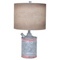 Crestview Collection CVAVP348 Filler Up 23 inch 150 watt Antique Can Table Lamp Portable Light
