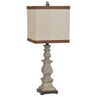 Crestview Collection CVAVP358 Burgess 32 inch 150 watt Washed Brown Table Lamp Portable Light