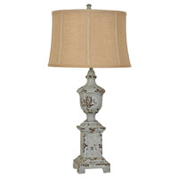 Crestview Collection CVAVP517A French Heritage 34 inch 150 watt French Blue Table Lamp Portable Light