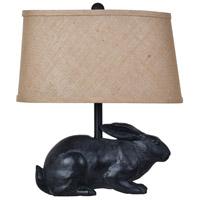 Crestview Collection CVAVP591 Rabbit 17 inch 60 watt Black Table Lamp Portable Light