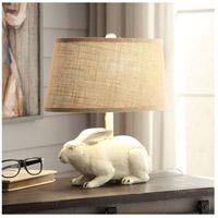 Crestview Collection CVAVP591W Bunny 17 inch 40 watt Antique White Table Lamp Portable Light