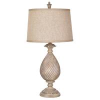 Crestview Collection CVAVP669 Sutton 35 inch 150 watt Bleached Wood Table Lamp Portable Light