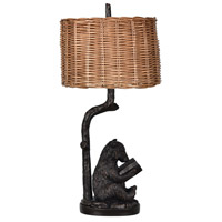 Crestview Collection CVAVP674 Bear Knowledge 34 inch 150 watt Bronze Table Lamp Portable Light