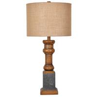 Crestview Collection CVAVP678 Heirloom 29 inch 150 watt Antique Pine and Galvanized Metal Table Lamp Portable Light