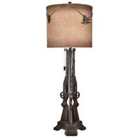 Crestview Collection CVAVP755 Shot 38 inch 150 watt Gunmetal Table Lamp Portable Light