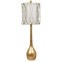 Crestview Collection CVAVP774 Carrington 39 inch 150 watt Gold Leaf Table Lamp Portable Light