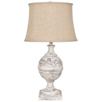 Crestview Collection CVAVP841 Post Knob 30 inch 150 watt White Washed Table Lamp Portable Light