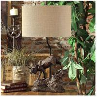 Crestview Collection CVAVP877 Moose Trail 30 inch 100 watt Antique Bronze Table Lamp Portable Light