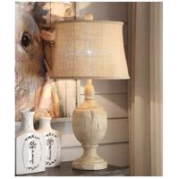 Crestview Collection CVAVP892 Carson 33 inch 150 watt Bleached Wood Table Lamp Portable Light