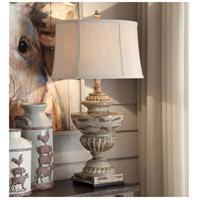 Crestview Collection CVAVP925 Hudson 34 inch 150 watt Antique Cream Table Lamp Portable Light