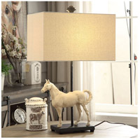 Crestview Collection CVAVP961 Chase 27 inch 150 watt Bleached White and Black Table Lamp Portable Light