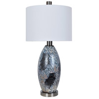 Crestview Collection CVAZBS041 Logan 33 inch 150 watt Black Chrome and Other Table Lamp Portable Light