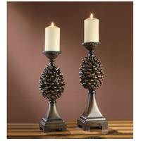 Pine Bluff 19 inch Candleholders, Set of 2