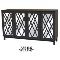 Crestview Collection CVFZR4022 Newcastle 72 X 18 inch Grey Sideboard