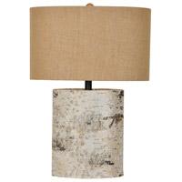 Crestview Collection CVLY1913 Birch Wood 25 inch 150 watt Birch Wood Table Lamp Portable Light