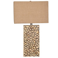 Crestview Collection CVLY1920 Stacked Wood 29 inch 150 watt Wood Table Lamp Portable Light