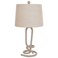 Crestview Collection CVNAM696 Twisted Rope 29 inch 150 watt Jute Table Lamp Portable Light