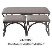 Element Benches, Set of 3