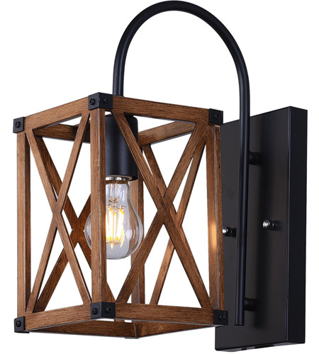 CWI Lighting 1033W6-1-230 Marini 1 Light 6 inch Wood Grain Brown Wall Sconce Wall Light photo