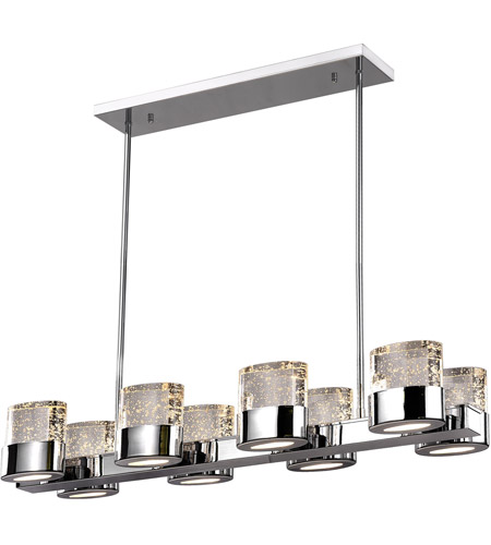 CWI Lighting Chrome Stainless Steel Chandeliers