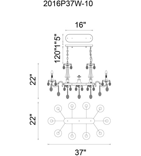 CWI Lighting Glass Flawless Chandeliers