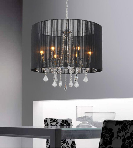 Chrome Metal Sheer Chandeliers