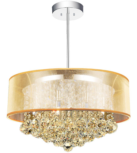 CWI Lighting 5062P20C-(CHP-+-G) Radiant 9 Light 20 inch Chrome Chandelier Ceiling Light photo thumbnail
