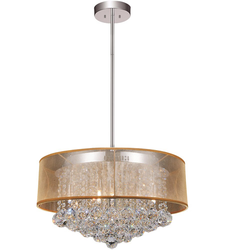 CWI Lighting 5062P20C-(CLEAR-+-G) Radiant 9 Light 20 inch Chrome Chandelier Ceiling Light photo thumbnail