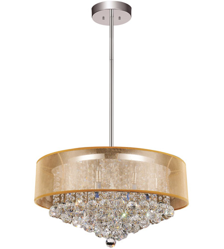 CWI Lighting 5062P24C-(CLEAR-+-G) Radiant 12 Light 24 inch Chrome Chandelier Ceiling Light photo thumbnail
