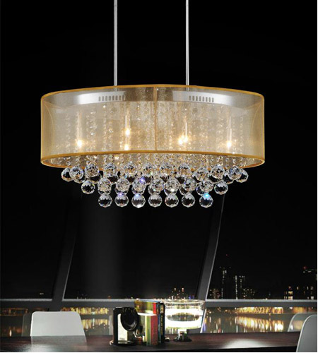 Clear and Chrome Chandeliers