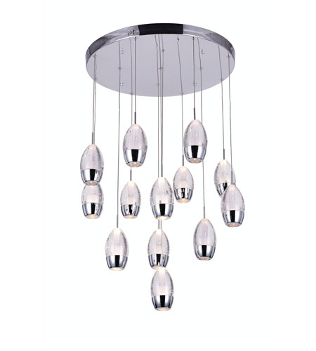 Chrome Metal Perrier Chandeliers