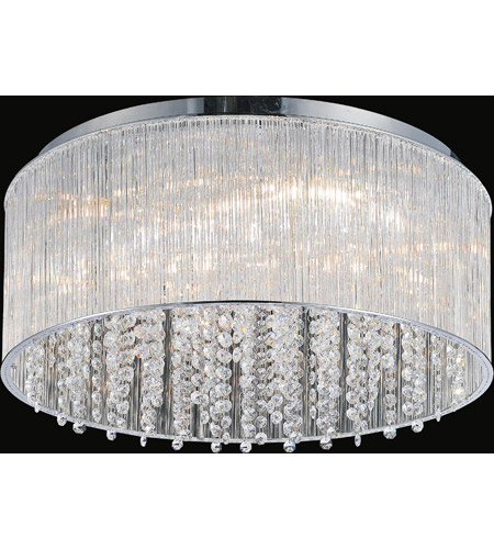 CWI Lighting 5319C20C-R Spring Morning 9 Light 20 inch Chrome Flush Mount Ceiling Light alternative photo thumbnail