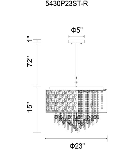 Cwi lighting 5430p23st r galant 8 light 23 inch stainless steel cwi lighting 5430p23st r galant 8 light 23 inch stainless steel chandelier ceiling light photo mozeypictures Gallery