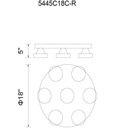 Chrome Metal Paulina Flush Mounts