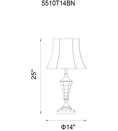 Brushed Nickel Metal Yale Table Lamps