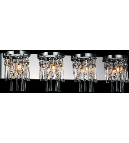 CWI Lighting 5524W32C-4 Blissful 4 Light 32 inch Chrome Wall Sconce Wall Light photo thumbnail